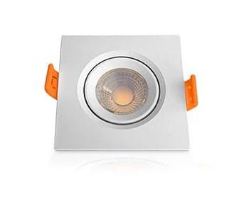Lâmpada Superled Mini Spot Quadrado 3W Bivolt 3000K - Ourolux - 05613 - Unitário