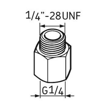 Pino graxeiro G1/4 – 1/4 UNF - SKF - LAPN 1/4UNF - Unitário