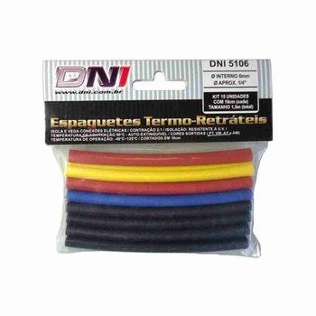 Espaguete Termo-Retrátil Ø6mm Contração 2:1 Kit com 10 - DNI - DNI 5106 - Unitário