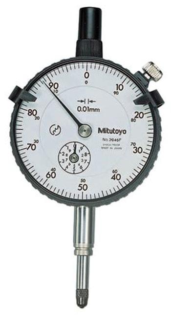 Relógio Comparador 10mm Resolução 0,01mm - Mitutoyo - 2046S - Unitário