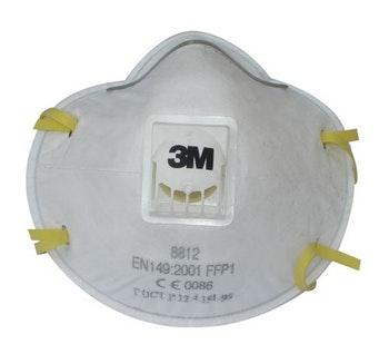 Respirador Descartável com Válvula PFF1 8812 - 3M - HB004116644 - Unitário