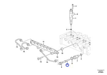 Adaptador de Tubo - Volvo CE - 21773134 - Unitário