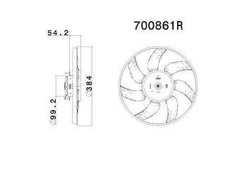Eletroventilador - Valeo - 700861R - Unitário