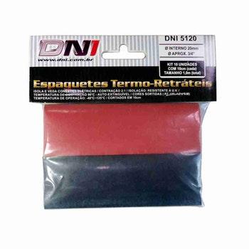 Espaguete Termo-Retrátil Ø20mm Contração 2:1 Kit com 10 - DNI - DNI 5120 - Unitário