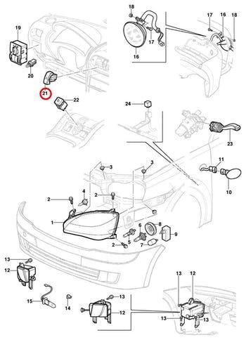 Interruptor de luz de emergência - Original Chevrolet - 09138106 - Unitário