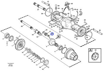 Rolamento Agulha - Volvo CE - 11035001 - Unitário