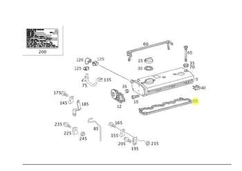 JUNTA da TAMPA do CABECOTE 8% - Original Mercedes-Benz - A0000160421 - Unitário
