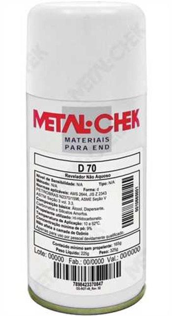Líquido Detecção de Trinca 225g D-70 HI - Metal-Chek - D-70 HI - Unitário