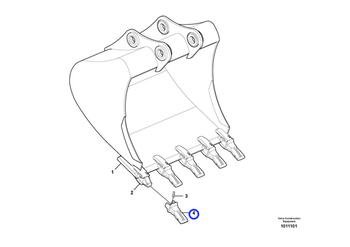 Dente - 65ARXE - Volvo CE - 14624280 - Unitário