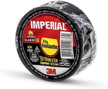 Fita Isolante Imperial® Preta 18mm x 5m - 3M - HB004237556 - Unitário