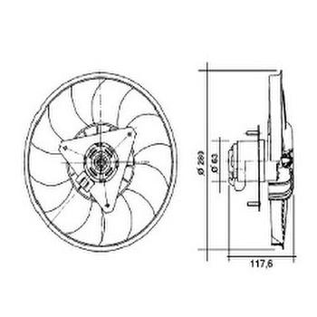 Eletroventilador - Valeo - 4EV010A - Unitário