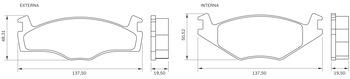 Pastilha de Freio - BB 328 - Bosch - 0986BB0045 - Par