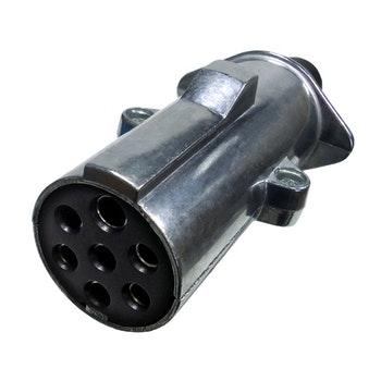 Tomada de Engate Móvel Alumínio Reforçado 7 Polos - DNI 8323 - DNI - DNI 8323 - Unitário