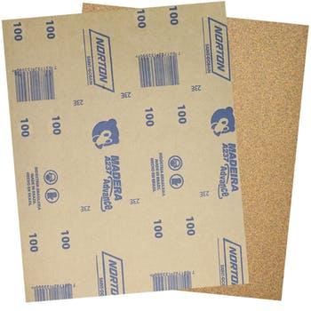 Folha de lixa madeira A237 grão 100 - Norton - 05539503044 - Unitário