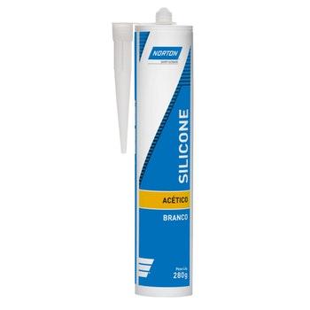 Silicone Acético Branco 280g - Norton - 69957321052 - Unitário