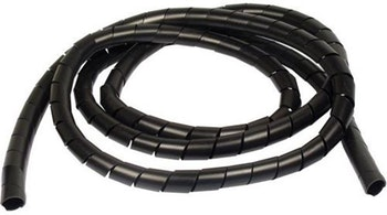 "Spiral Tube PVC 1/4"" Preto Largura 8,2mm para Diâmetro 5,0-25,0 mm - HellermannTyton - 1049810 - Unitário"