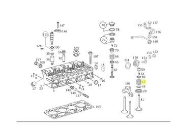 Mola da Válvula de Escape - Original Mercedes-Benz - A9060530420 - Unitário