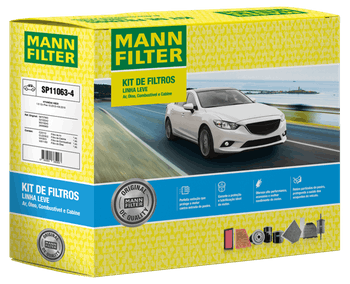 KIT Original MANN-FILTER - HYUNDAI HB20 1.6 12v Flex (10.2012-09.2019) - Mann-Filter - SP11063-4 - Kit