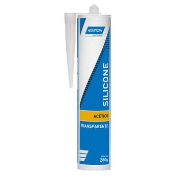 Silicone Acético Transparente 280g - Norton - 69957321051 - Unitário