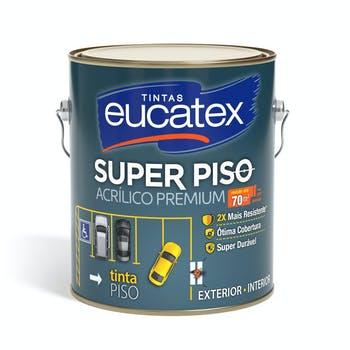 Tinta Acrílica Super Piso Premium Amarelo Demarcação Galão 3,6L - Eucatex - 4900017.01 - Unitário