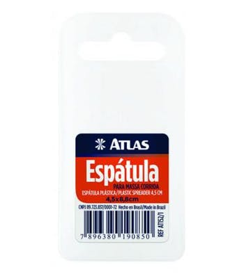 Espátula Plástica Macia e Flexível 4,4 x 8,8cm - Atlas - AT152/1 - Unitário