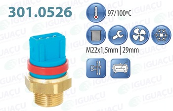 Interruptor Térmico do Radiador - Iguaçu - 301.0526-97/100 - Unitário