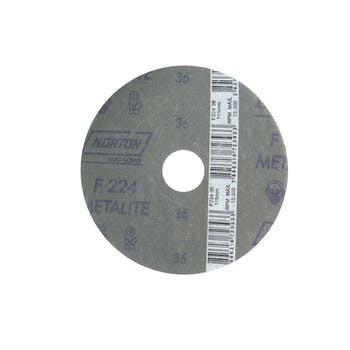 Disco de fibra metalite F224 grão 36 115x22mm - Norton - 66261199704 - Unitário