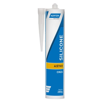 Silicone Acético Cinza 280g - Norton - 69957321053 - Unitário