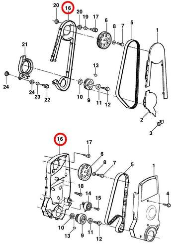 Protetor da Correia - Original Chevrolet - 93251461 - Unitário