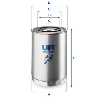 Filtro de Combustível - UFI Filters - 24.395.00 - Unitário