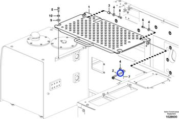 Cupilha da Articulação do Freio - Volvo CE - 9323-02920 - Unitário