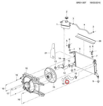 Mangueira Superior Do Radiador - Original Chevrolet - 93337573 - Unitário