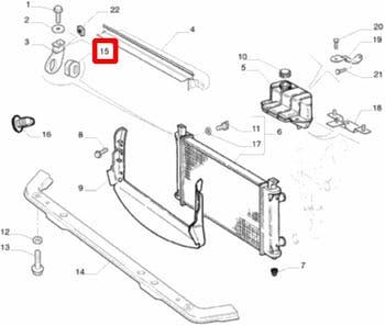 Coxim do Radiador Superior - Original Fiat - 46417173 - Unitário