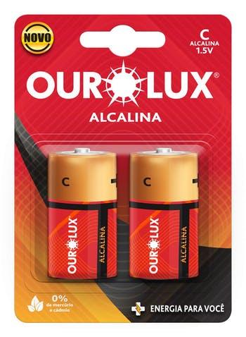 Pilha Alcalina C 1,5 V - Ourolux - 27240 - Unitário