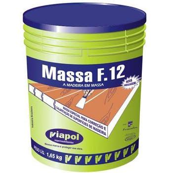 Massa para Madeira e Calafetagem F12 Imbuía 1,65Kg - Viapol - V0210658 - Unitário