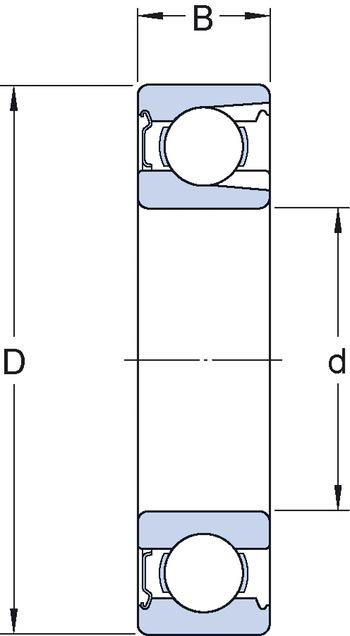 Rolamento rígido de esferas com rasgo de entrada - SKF - 309 NR - Unitário