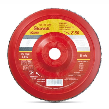 Disco Flap Exact em Nylon - Starrett - FDX180-60NF - Unitário