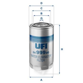 Filtro de Combustível - UFI Filters - 24.999.00 - Unitário