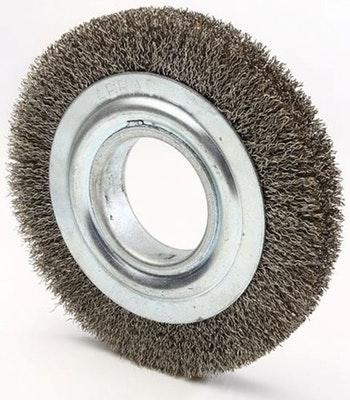 Escova Circular Ondulada 150x13mm Fio 0,40mm 6000Rpm - Abrasfer - T.7000-OND.150X13 - Unitário