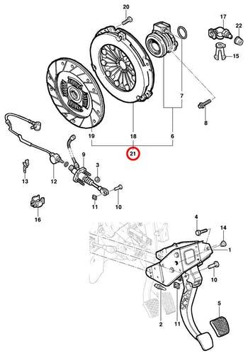 Kit de Embreagem - Original Chevrolet - 98500016 - Unitário