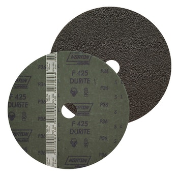 Disco de fibra durite F425 grão 36 180x22mm - Norton - 66261161036 - Unitário