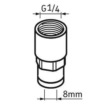 Tubo de conexão fêmea G1/4 - SKF - LAPF F1/4 - Unitário