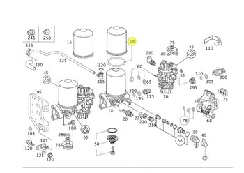 Elemento do Filtro Secador de Ar com Separador de Óleo - Original Mercedes-Benz - A0004295695 - Unitário