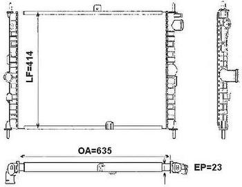 Radiador de Resfriamento - Valeo - 6TA019A - Unitário