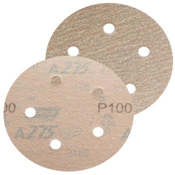 Disco de lixa seco A275 grão 100 127mm c/ 5 furos - Norton - 66254468379 - Unitário