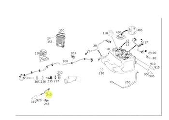Adaptador do Sensor de Nox - Original Mercedes-Benz - A1648210156 - Unitário