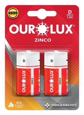 Pilha Comum D - Ourolux - 27035 - Unitário