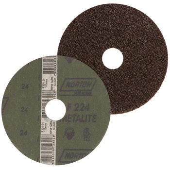 Lixa Disco de Fibra 115mm Aços em Geral G24 22 Furos F224 - Norton - 05539502997 - Unitário