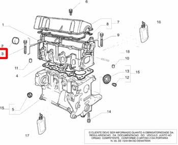 Parafuso do Cabeçote - Original Fiat - 55187738 - Unitário