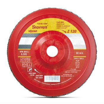Disco Flap Exact em Nylon - Starrett - FDX180-120NF - Unitário